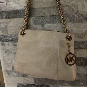 Michael Kors off white pebble leather purse